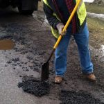 pothole patching in Romsey