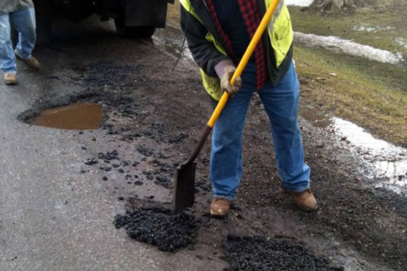 pothole patching in Devizes